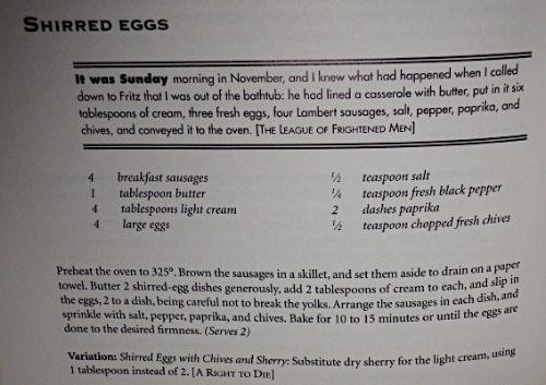 Booniverse » Blog Archive » Shirred Eggs a la Nero Wolfe